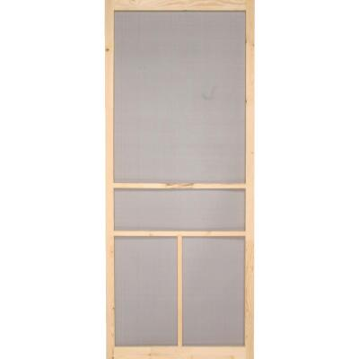 Snavely Kimberly Bay 30 In. W. x 80 In. H. x 1 In. Thick Natural Fingerjoint Pine T-Bar Screen Door