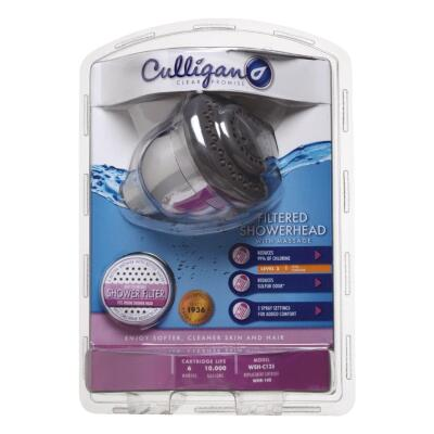 Culligan 5-Spray 2.0 GPM Filtered Chrome Showerhead