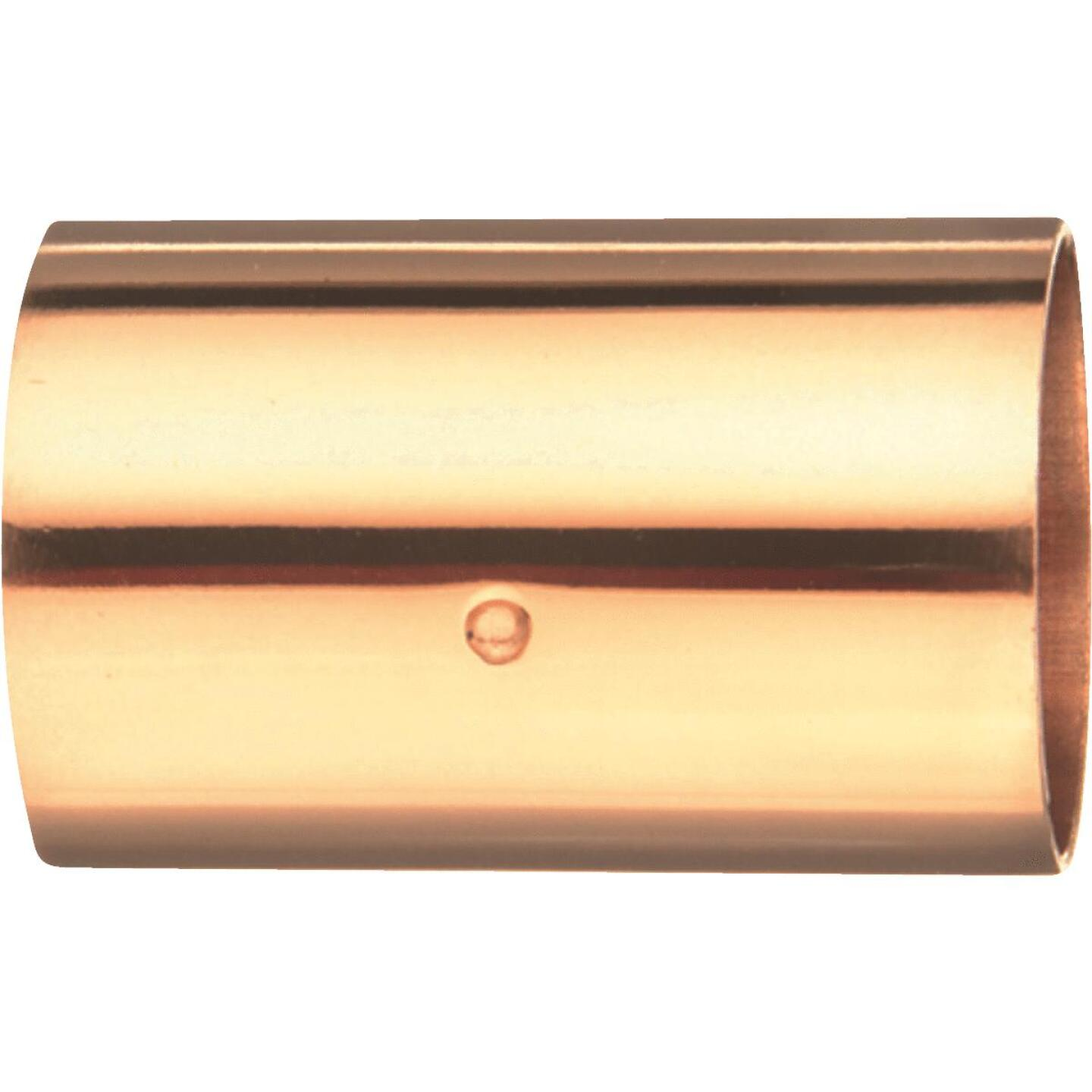 Mueller Streamline 1-1/4 In. x 1-1/4 In. Copper Coupling with Stop Image 1