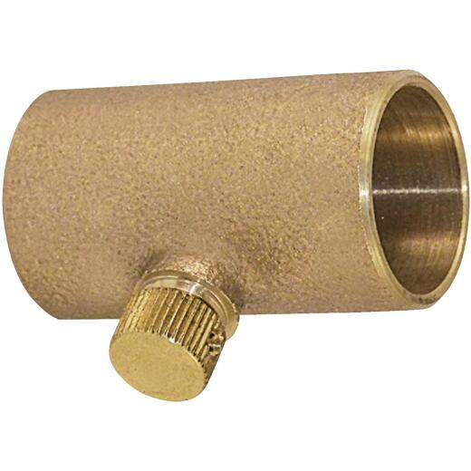 Elkhart 1/2 In. Copper Drain Coupling with Cap