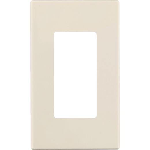 Leviton Decora Plus 1-Gang Poly Carbonate Screwless Decorator Wall Plate, Light Almond