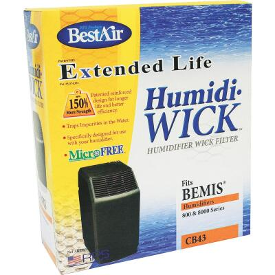 BestAir Extended Life Humidi-Wick CB43 Humidifier Wick Filter (2-Pack)