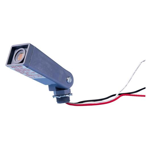 Do it Hard Wire Gray Floodlight Photocell Lamp Control
