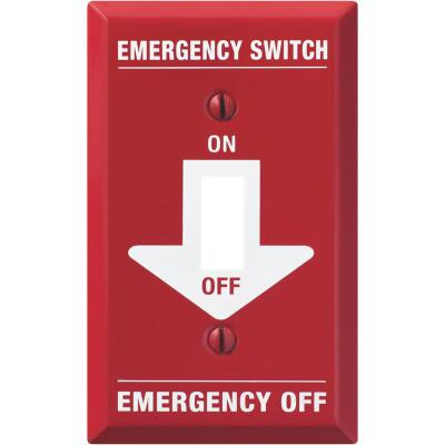Amerelle PRO 1-Gang Red Stamped Steel Emergency Toggle Switch Wall Plate