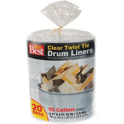 Do it Best 55 Gal. Clear Drum Liner (20-Count)