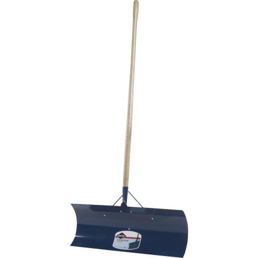 Garant Yukon 30 In. Steel Snow Pusher with 48 In. Wood Handle