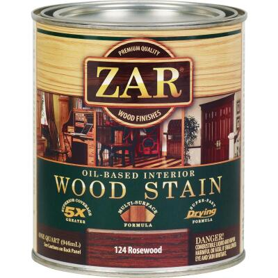 ZAR Oil-Based Wood Stain, Rosewood, 1 Qt.