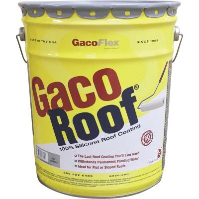 GacoFlex GacoRoof VOC-Compliant Silicone Roof Coating, Gray, 5 Gal.