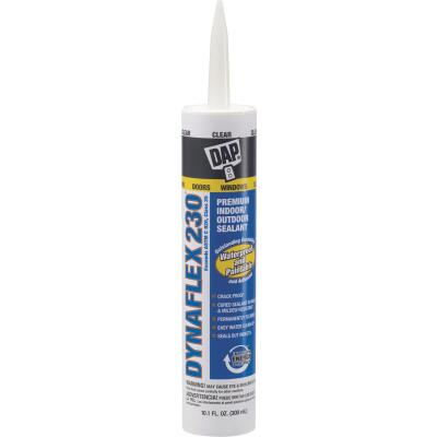 DAP DYNAFLEX 230 10.1 Oz. 100% Waterproof Window, Door, Siding & Trim Elastomeric Sealant, Clear