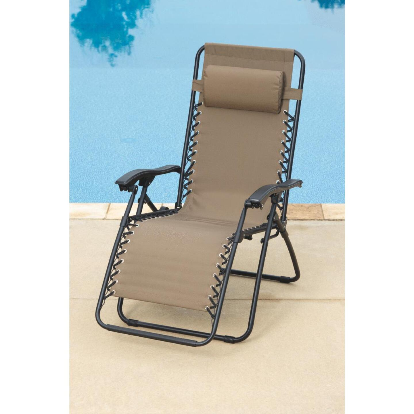 Outdoor Expressions Zero Gravity Relaxer Tan Convertible Lounge Chair Image 2